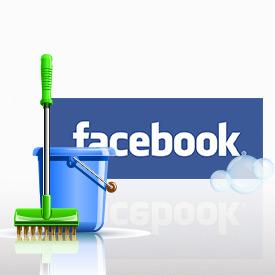 clean facebook